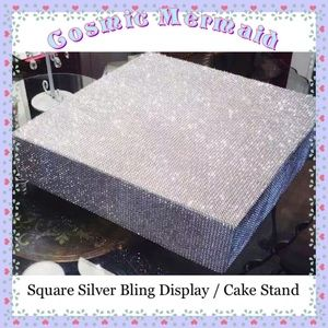 """Other - 12""""🆕⭐️Glam Bling Cake Stand⭐️Faux Rhinestones"""